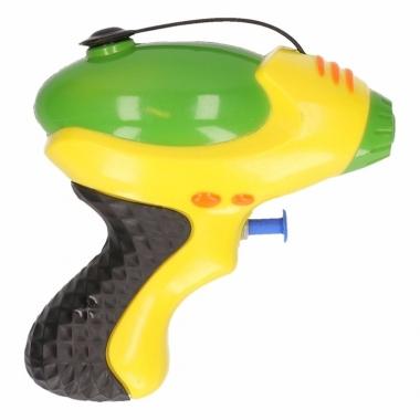 Waterpistool geel groen 10 cm