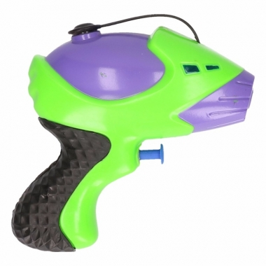 Waterpistool paars groen 10 cm