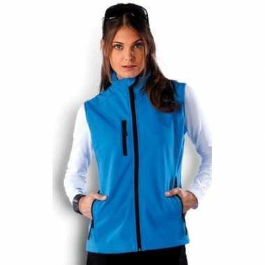 Waterproof mouwloos vest blauw voor dames