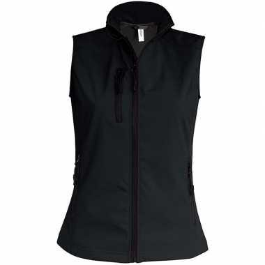 Waterproof mouwloos vest zwart voor dames