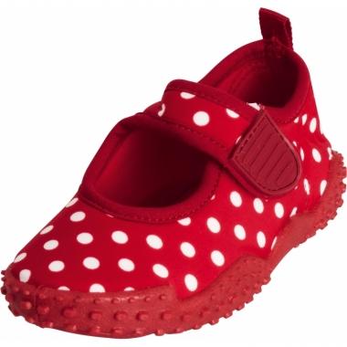 Waterschoenen voor kinderen rood met witte stipjes