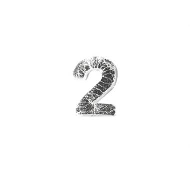 Wax cijfer 2 zilver