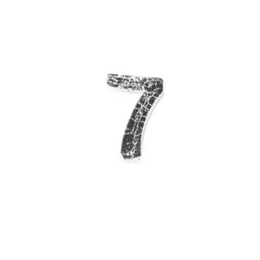 Wax cijfer 7 zilver