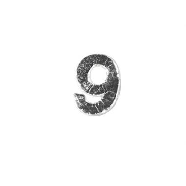 Wax cijfer 9 zilver