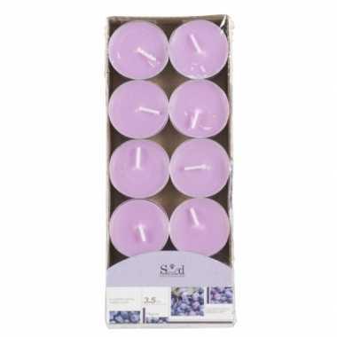 Waxinelichtjes lila met blauwe bessen geur 10 stuks