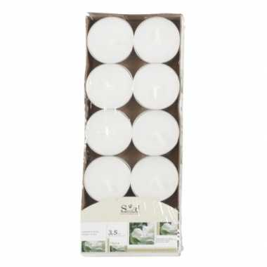 Waxinelichtjes wit met jasmijn geur 10 stuks