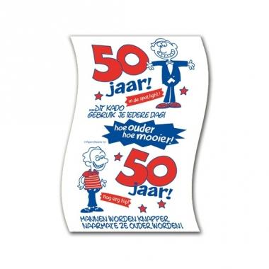 Wc papier man 50 jaar