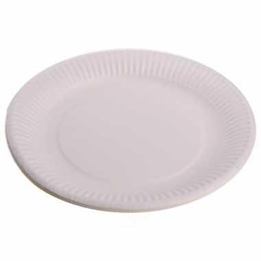 Wegwerp bordjes wit 30 stuks