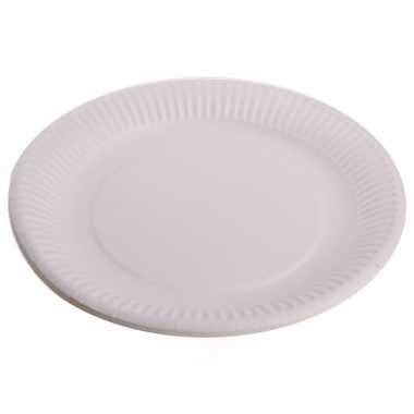 Wegwerp bordjes wit 50 stuks