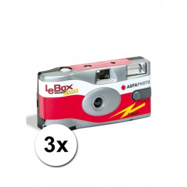 Wegwerp cameras met 27 fotos 3 st
