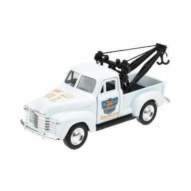 Welly modelauto chevrolet oldtimer 1953 stepside tow truck wit 1:34