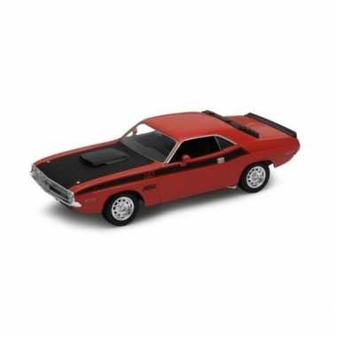 Welly modelauto dodge challenger 1970 rood 1:34