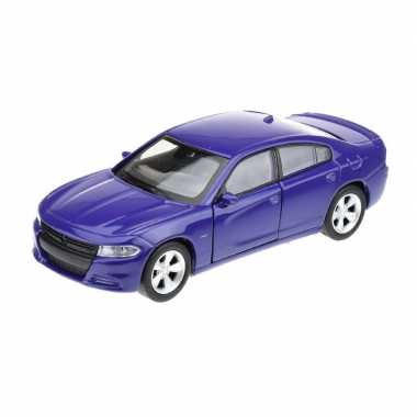 Welly modelauto dodge charger 2016 blauw 1:34