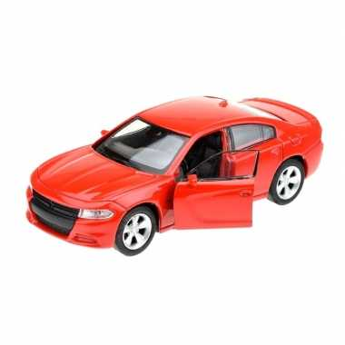 Welly modelauto dodge charger 2016 rood 1:34