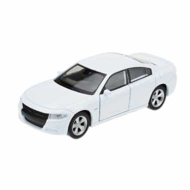 Welly modelauto dodge charger 2016 wit 1:34