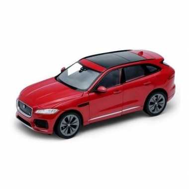 Welly modelauto jaguar f-pace rood 1:34