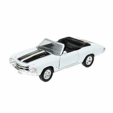 Welly modelauto oldtimer chevrolet 1971 chevelle wit 1:34