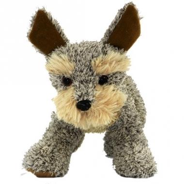 Welsh terrier knuffel hondje staand 30 cm