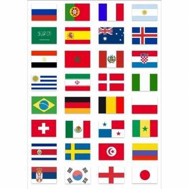 Wereld kampioenschap voetbal 2018 vlag pakket van gekwalificeerde lan