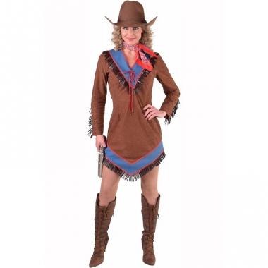 Western cowgirl jurkje bruin voor dames