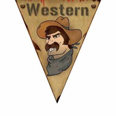Western thema vlaggenlijn western