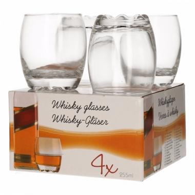 Whisky glazen drinkset 4 delig