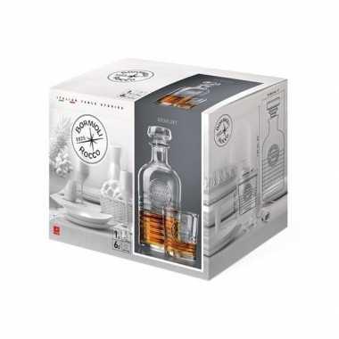 Whisky karaf inclusief 6 bijpassende glazen