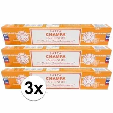 Wierook champa ontspanning/meditatie 36 stokjes nag champa