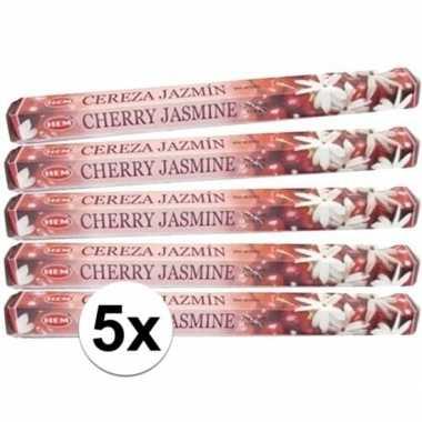 Wierook cherry jasmine 100 stuks