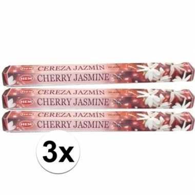 Wierook cherry jasmine 60 stuks