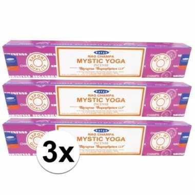 Wierook mystic yoga ontspanning/meditatie 36 stokjes nag champa