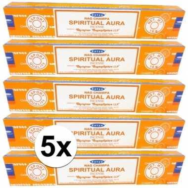 Wierook nag champa spiritual aura 60 stuks