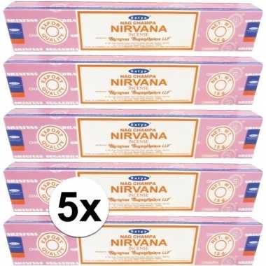 Wierook nirvana ontspanning/meditatie 60 stokjes nag champa