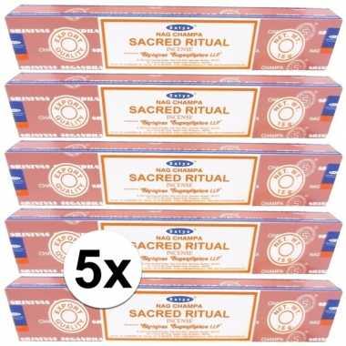 Wierook sacred ritual ontspanning/meditatie 60 stokjes nag champa