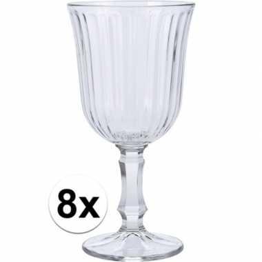 Wijn glas 8x stuks