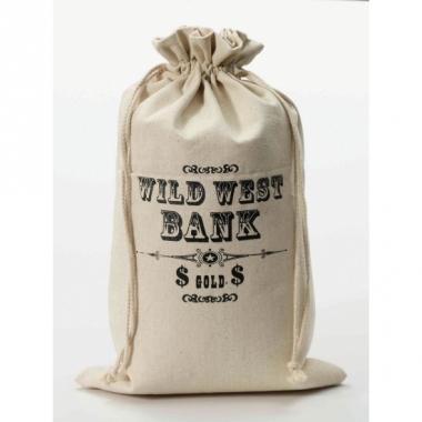 Wild west bank geld zak