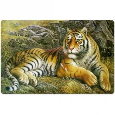 Wilde dieren placemat tijger 3d