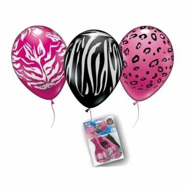 Wilde dierenprint ballonnetjes