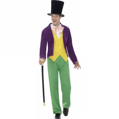 Willy wonka carnaval outfit voor heren