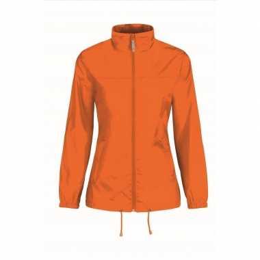 Windjacks voor dames oranje