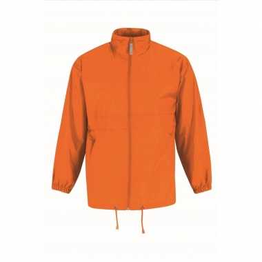 Windjacks voor heren oranje