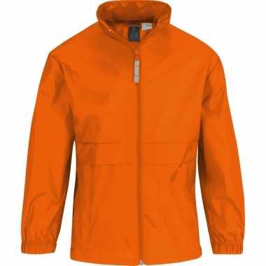 Windjacks voor meisjes oranje