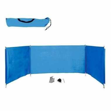 Windscherm blauw 3 vakken 400 x 110 cm
