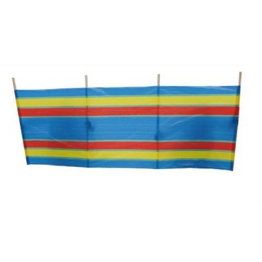 Windscherm met gekleurde streepjes 240x90 cm
