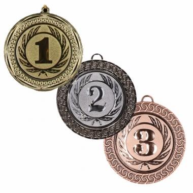 Winnaars medailles set 1e, 2e en 3e