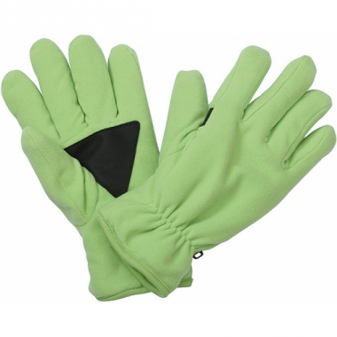 Winter fleece handschoenen lime groen