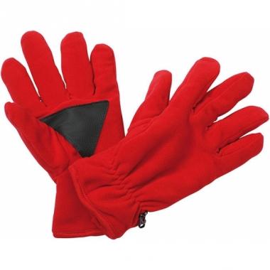 Winter fleece handschoenen rood
