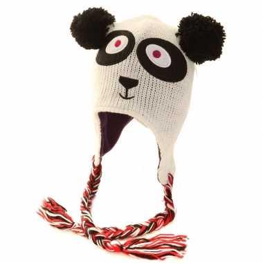 Winter muts panda voor dames