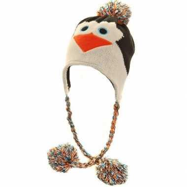 Winter muts pinguin voor dames