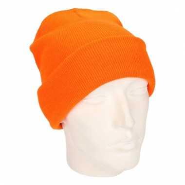 Winter muts voor volwassenen oranje
